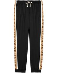 Gucci Loose Technical Jersey Track Bottoms - Black