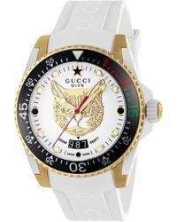 Gucci Reloj Dive, 40 mm - Blanco