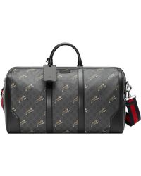 Gucci Bestiary Carry-on Duffle With Tigers - Black