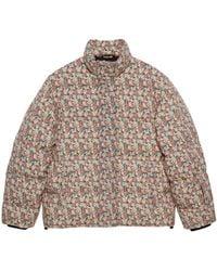 Gucci Veste en laine garnie de duvet Liberty à fleurs - Rose
