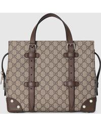 Gucci GG Shopper mit Lederdetails - Natur