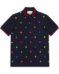 Gucci - Polo de Algodón con Abejas y Estrellas - Lyst