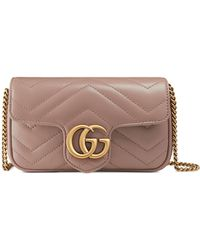 Gucci GG Marmont Matelassé Leather Super Mini Bag - Pink