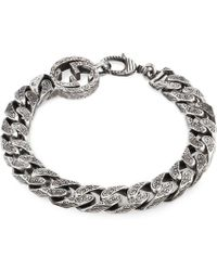 Gucci | Interlocking G Chain Bracelet In Silver | Lyst