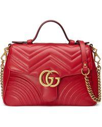 a1c9fa95984bd6 Gucci Borsa a mano GG Marmont misura piccola