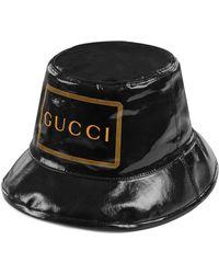 Gucci Sombrero Cubo con estampado enmarcado - Negro