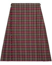 Gucci Pantalón corto de tartán de lana - Multicolor
