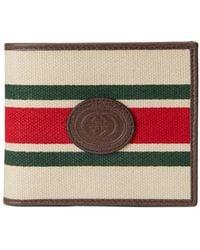 Gucci Brieftasche mit Web - Weiß