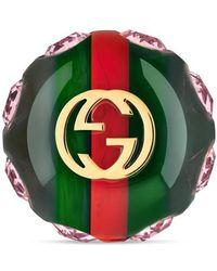 Gucci - Vintage Web Brooch - Lyst