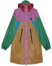 Gucci Chaqueta con capucha de nylon GG Multicolor - Amarillo