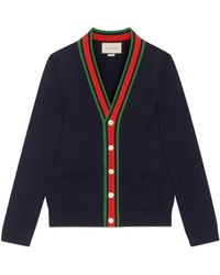 Gucci Wool Knit Cardigan - Blue