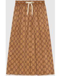 Gucci グッチGGテクニカルジャージー スカート - ナチュラル