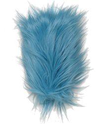 Gucci Faux Fur Gloves - Blue