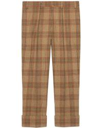 Gucci - Pantalón de Lana a Cuadros - Lyst