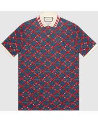 Gucci - グッチオーバーサイズ プリント ポロシャツ - Lyst