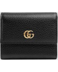 Gucci Brieftasche GG Marmont aus Leder - Schwarz