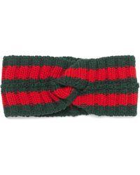 Gucci Striped Wool-blend Headband - Green