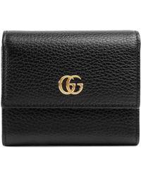 Gucci 'GG Marmont' Portemonnaie - Schwarz