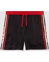 Gucci Shorts aus Acetat mit Streifen - Schwarz