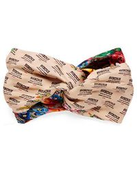 Gucci - The Stamp And Flowers Print Silk Headband - Lyst