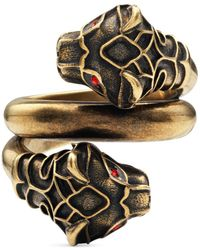 Gucci Tiger Head Ring - Red