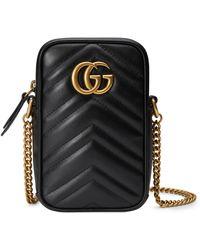Gucci GG Marmont Mini Tasche - Schwarz