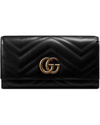 Gucci GG Marmont Continental Wallet - Black