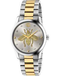 Gucci G-timeless 38 Mm Uhr Aus Edelstahl Mit Pvd-beschichtung - Mettallic