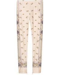 Gucci Printed Jersey leggings - Natural