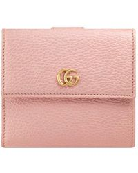 Gucci | Leather French Flap Wallet | Lyst