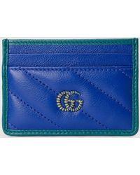Gucci GG Marmont Kartenetui - Blau