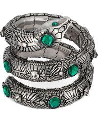 Gucci - Bracelet serpent triple avec cristaux - Lyst