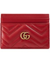 Gucci GG Marmont Card Holder - Red