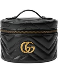 Gucci Porta cosmetici GG Marmont - Nero