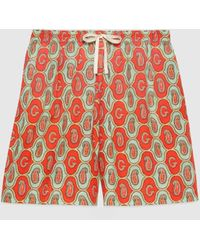 Gucci - Shorts aus Baumwollleinen mit GG Paisley Print - Lyst