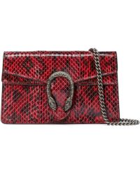 Gucci Dionysus Super Mini Snakeskin Bag - Red
