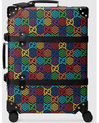 Gucci Globe Trotter Koffer (M) mit GG Psychedelic - Schwarz