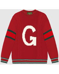 Gucci DIY Unisex Pullover aus Wolle - Rot