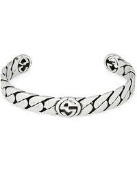 Gucci Wide Interlocking G Bracelet - Metallic