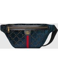 Gucci Gürteltasche aus GG Samt - Blau