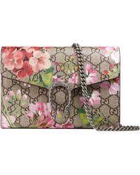 Gucci Mini sac Dionysus à imprimé Blooms avec chaîne - Rose