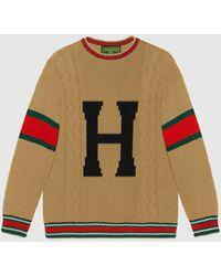 Gucci グッチdiy ユニセックス ウール セーター - マルチカラー