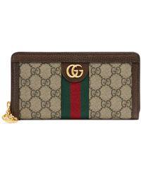 Gucci Ophidia GG Zip Around Wallet - Brown