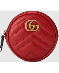 Gucci GG Marmont Portemonnaie - Rot