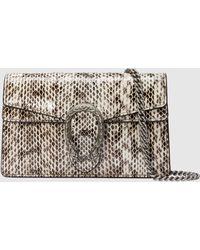 Gucci Dionysus Super-Mini-Tasche aus Pythonleder - Mehrfarbig