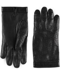 Gucci Signature Handschuhe - Schwarz