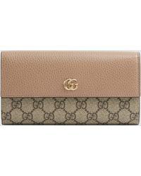 Gucci - GG Marmont Continental Brieftasche aus Leder - Lyst