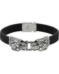 Gucci - Tiger Head Bracelet - Lyst