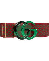 Gucci - Elastic Belt With Double G - Lyst