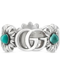 Gucci - Double G Flower Ring - Lyst